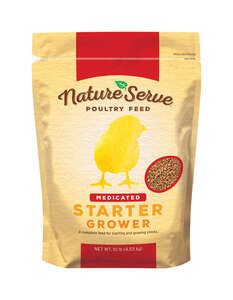NatureServe  Medicated  Grower/Starter Feed  Crumble  For Poultry 10 lb.