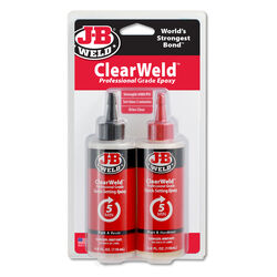 J-B Weld  Clear Weld  High Strength  Epoxy  8 oz.