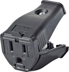 Leviton  Commercial and Residential  Thermoplastic  Ground/Straight Blade  Hinged Cord Outlet  5-15R