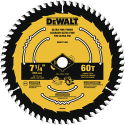 DeWalt  7-1/4 in. Dia. x 5/8 in.  Tungsten Carbide  Circular Saw Blade  60 teeth 1 pk
