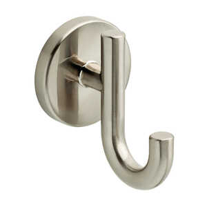 Delta  Lyndall  Robe Hook  8 in. H x 2.2 in. W x 2.5 in. L Satin Nickel  Die Cast Zinc