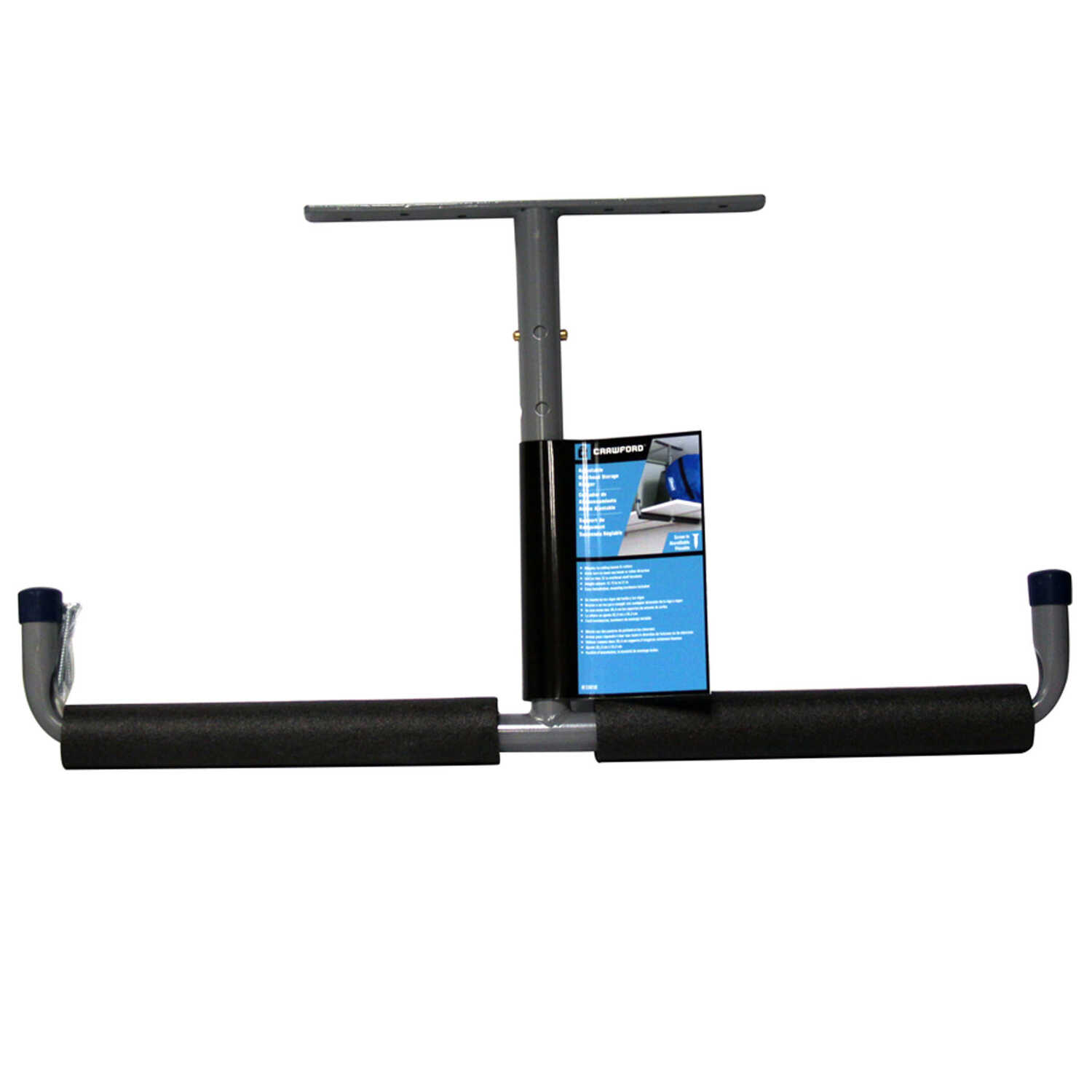 Crawford  Black  Steel  Overhead Storage Hanger  50 lb. capacity 1 pk