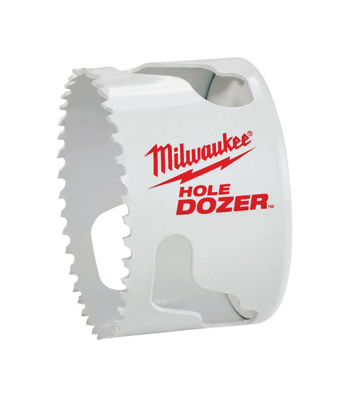 Milwaukee  Hole Dozer  2-7/8 in. Dia. x 1-5/8 in. L Bi-Metal  Hole Saw  1/4 in. 1 pc.