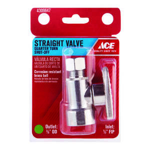 Ace  Ball  Straight Stop Valve  Brass