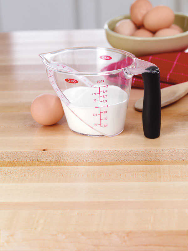 OXO  Good Grips  2  Plastic  Clear  Angled Measuring Cup