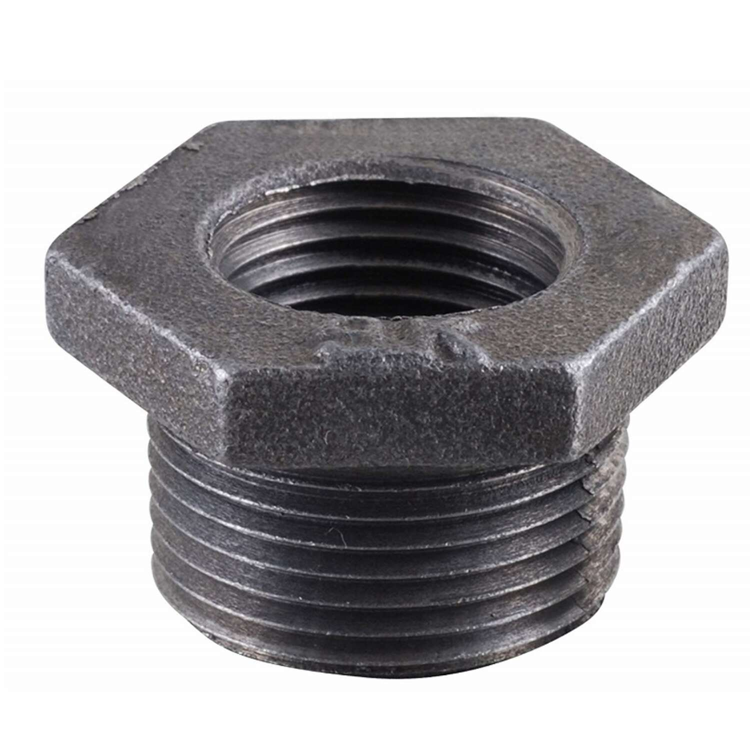 BK Products 2 in. MPT x 1-1/4 in. Dia. FPT Black Malleable Iron Hex Bushing