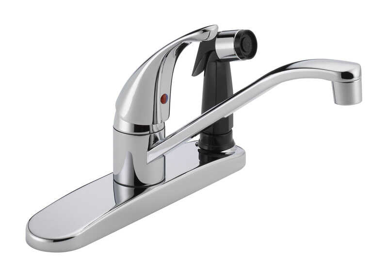Peerless  Core  One Handle  Chrome  Kitchen Faucet  Side Sprayer Included