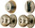 Ace  Colonial  Antique Brass  Knob and Deadbolt Set  ANSI Grade 2  1-3/4 in.