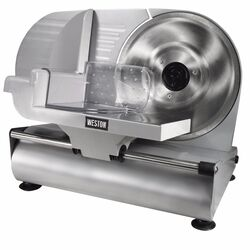 Weston  Silver  1 speed Meat Slicer  9 in.