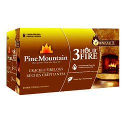 Pine Mountain  Crackling Fire Log  6 pk