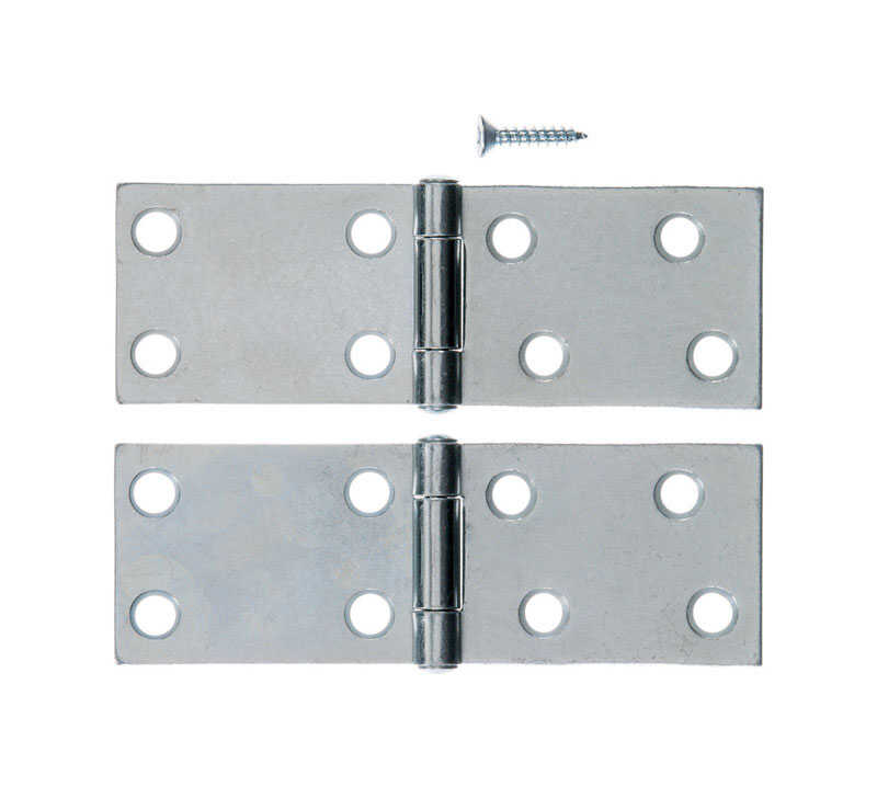 Ace  3.75 in. W x 1-1/2 in. L Chrome  Steel  Backflip Hinge  2 pk