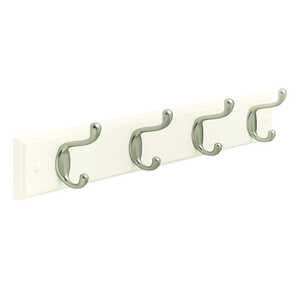 Amerock  Fiberboard/Zinc  Medium  4-Hook  Rack  1 pk 18 in. L