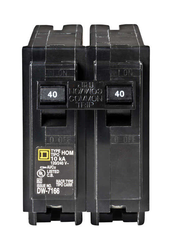 Square D  HomeLine  40 amps Surge  2-Pole  Circuit Breaker