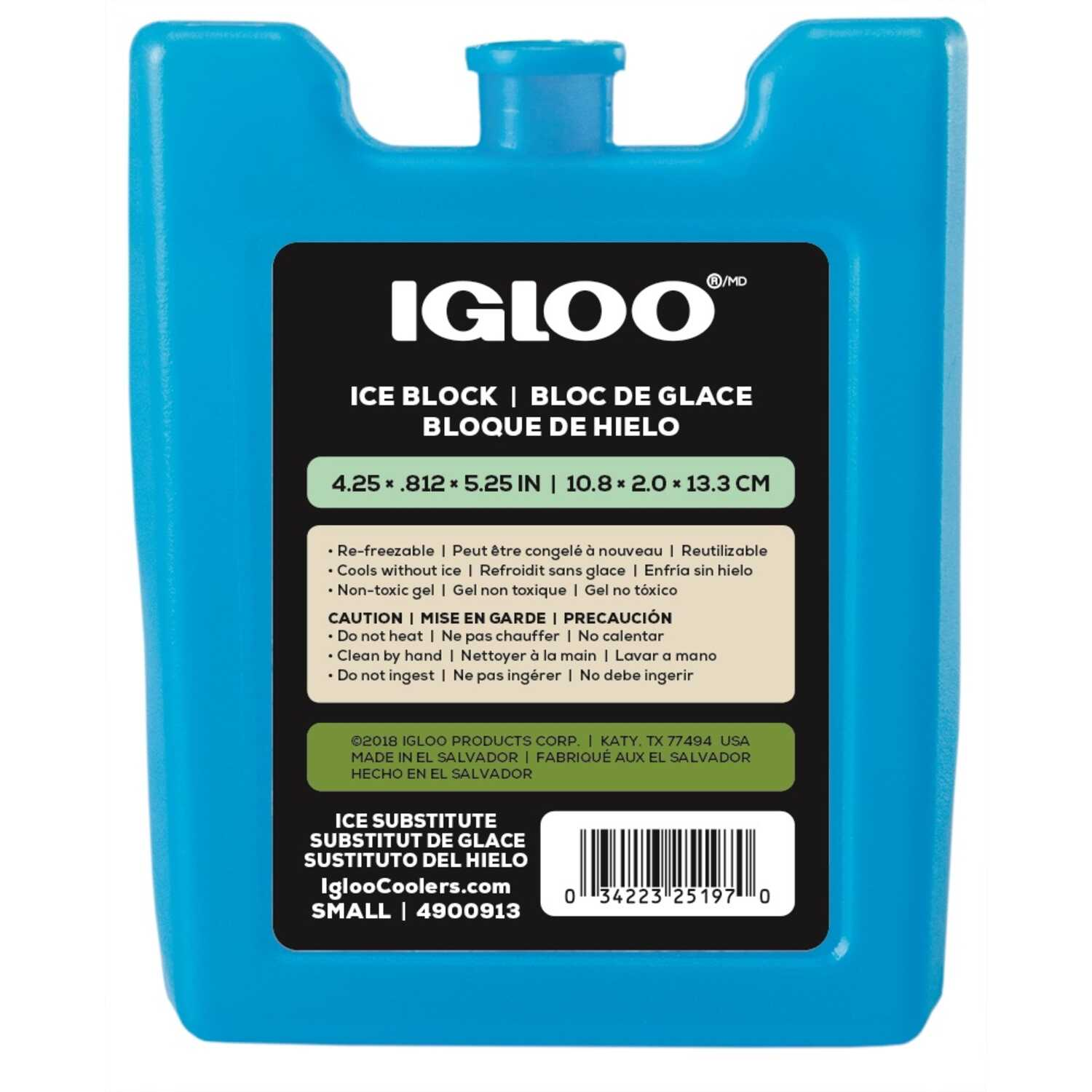 Igloo  MaxCold  Ice Gel Pack  6.8 oz. 1  Blue