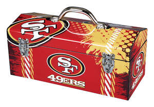 Sainty International  San Francisco 49ers  Steel  16.25 in. Art Deco Tool Box  San Francisco 49ers