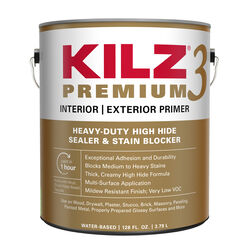 KILZ Premium White Flat Water-Based Primer and Sealer 1 gal.