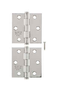 Ace  2-1/2 in. L Stainless Steel  Stainless Steel  Narrow Hinge  2 pk