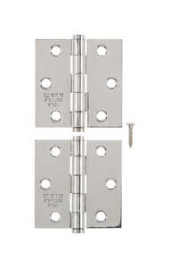 Ace  2-1/2 in. L Stainless Steel  Steel  Narrow Hinge  2 pk