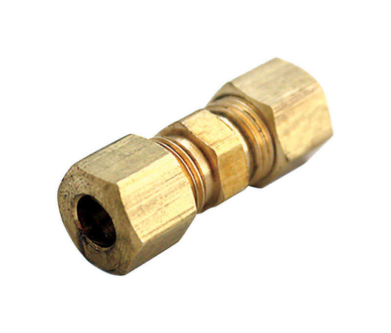 Ace  3/16 in. Dia. x 3/16 in. Dia. Compression To Compression  Yellow Brass  Union