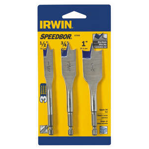 Irwin  Speedbor  1/4 in. Dia. x 4  L Wood Boring Bit  1/4 in. 3 pc. Quick-Change Hex Shank  Steel