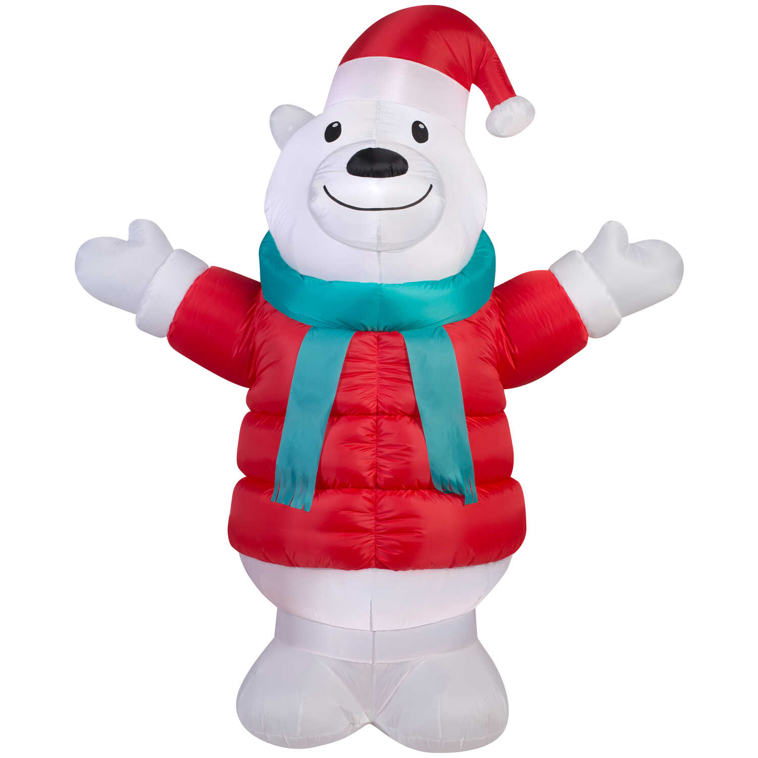 Gemmy  Polar Bear  Christmas Inflatable  Multicolored  Fabric