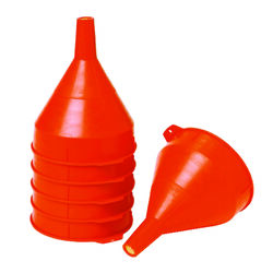 Little Giant  Orange  8-1/2 in. H Plastic  64 oz. Funnel