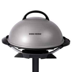 George Foreman  George Tough  Silver  Plastic  Nonstick Surface Indoor Grill  240 sq. in.