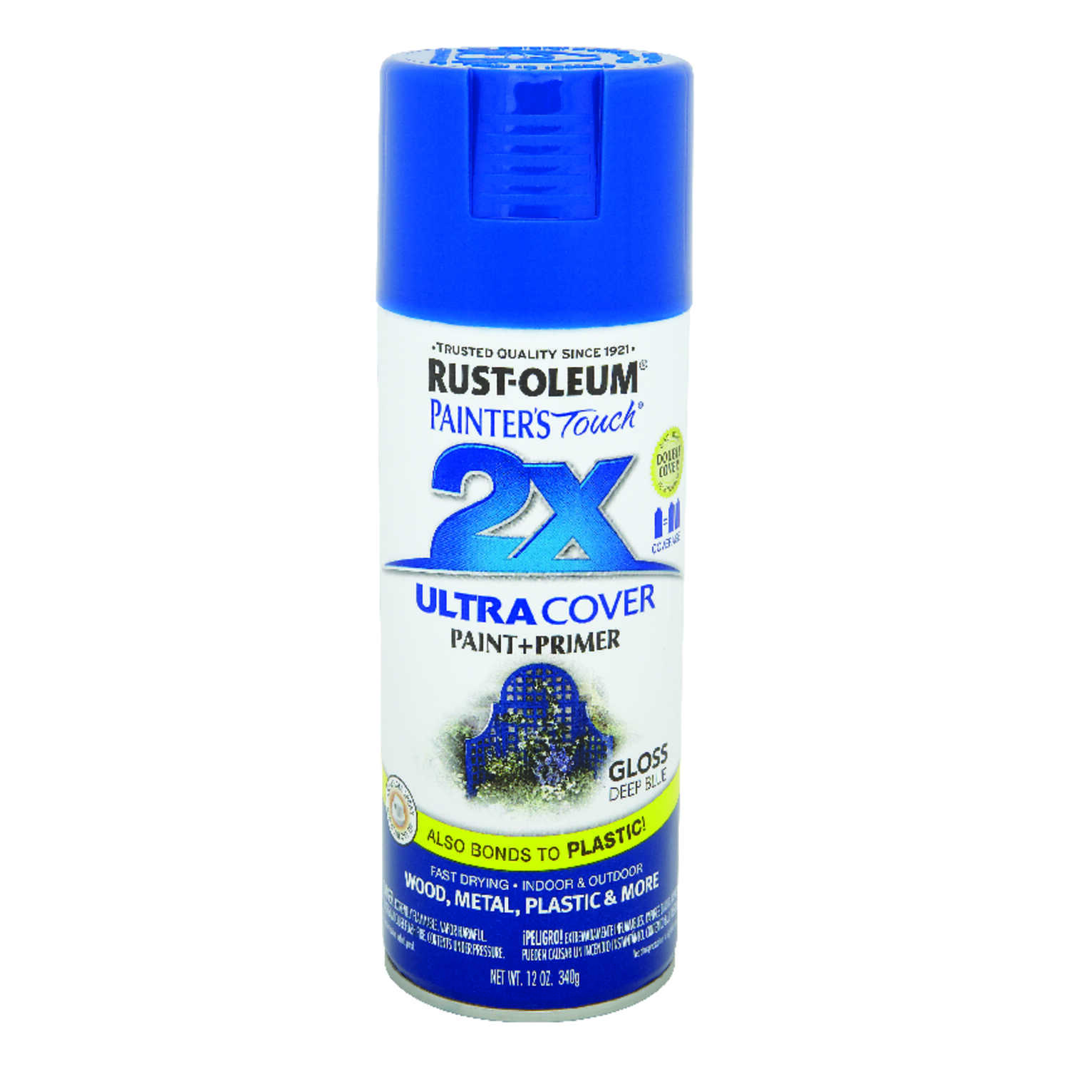 Rust-Oleum  Painter's Touch Ultra Cover  Gloss  Deep Blue  Spray Paint  12 oz.
