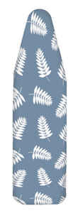 Homz  14 in. W x 42 in. L Cotton  Ironing Board Cover  Blue Fern Leaf