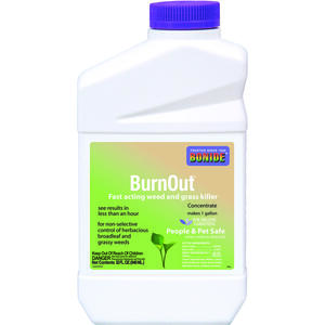 Bonide  BurnOut  Organic Weed and Grass Killer  Concentrate  32 oz.