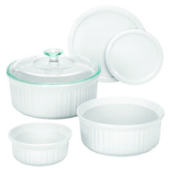 CorningWare French White 11 in. W x 9.83 in. L Bake Set White 6 pc.