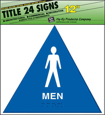 Hy-Ko  English  Blue  Informational  Sign  12 in. H x 12 in. W