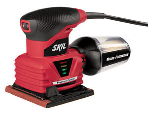 Skil  2 amps 120 volt Corded  1/4 Sheet  Palm Sander  4.5 in. L x 4 in. W 14000 opm