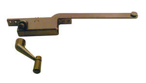 Prime-Line  Bronze  Steel  Right  Single-Arm Casement  Window Operator  For Steel Framed Windows