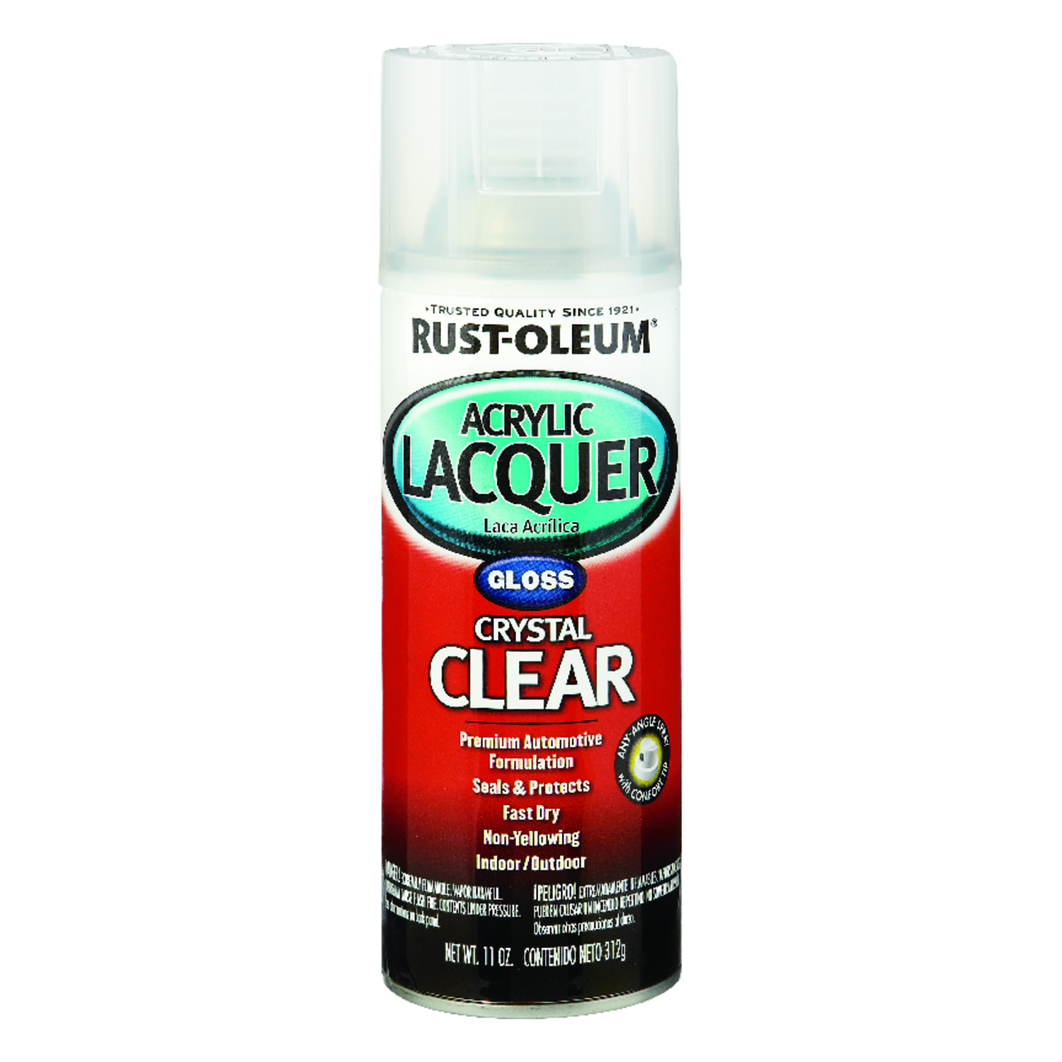 Rust-Oleum  Automotive Lacquer  Gloss  Clear  12 oz. Automotive Acrylic Lacquer Spray