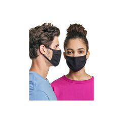 Hanes  Cotton  Face Mask  Black  10 pk