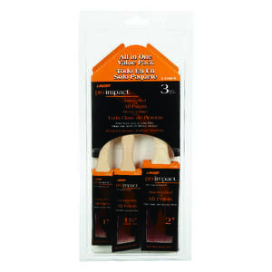 Linzer  1, 1-1/2 and 2 in. W Flat  Polyester  Paint Brush Set  Pro Impact