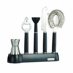 Rabbit  Black  Stainless Steel  Barware Set