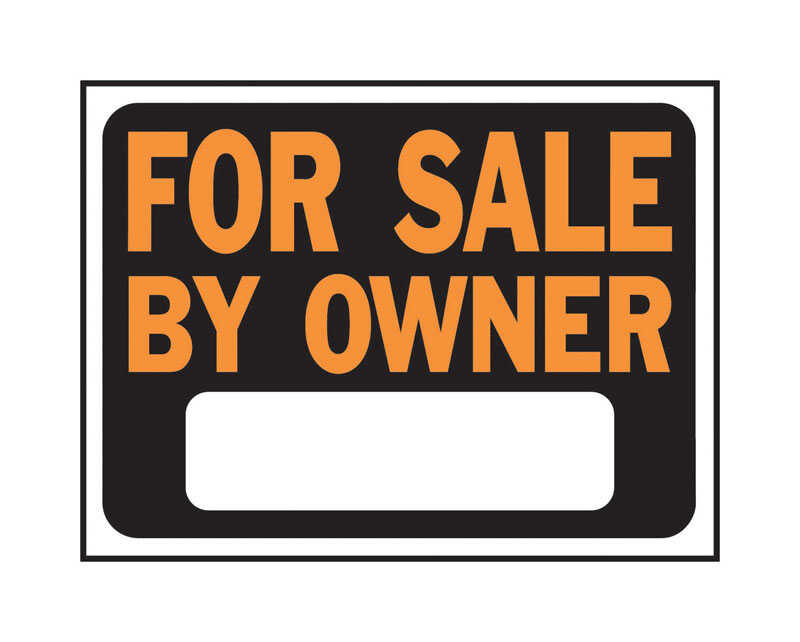 Hy-Ko  English  For Sale by Owner  9 in. H x 12 in. W Plastic  Sign