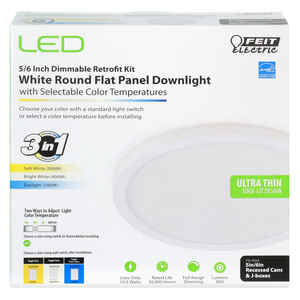 Feit Electric  White  5/6 in. W LED  Retrofit Downlight Kit  10.5 watts