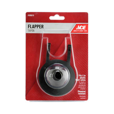 Ace  Toilet Flapper  Blue  Rubber  For Universal