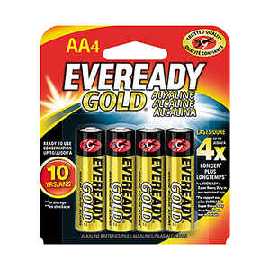Eveready  Gold  AA  Alkaline  Batteries  4 pk Carded