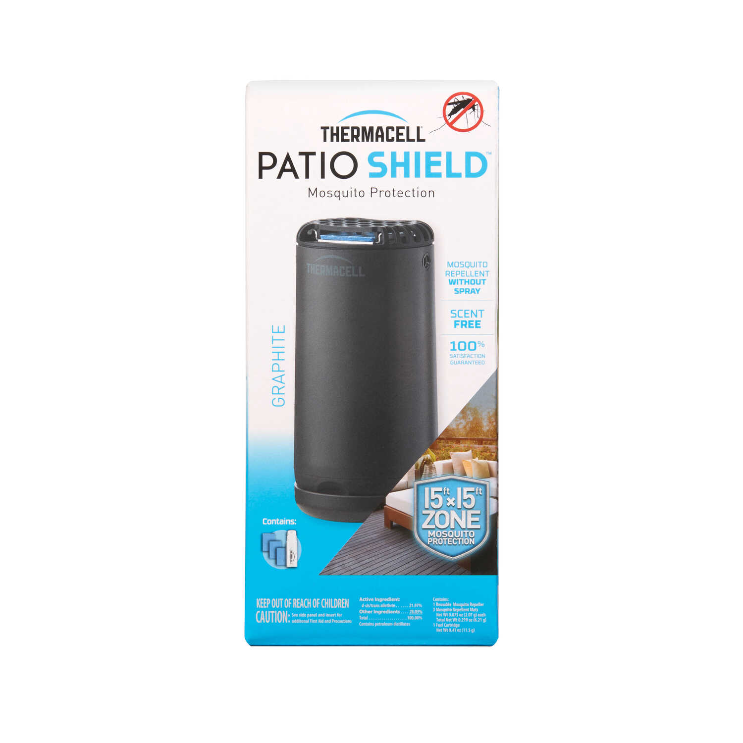 Thermacell  Patio Shield  Insect Repellent Device  For Mosquitoes 1 pk