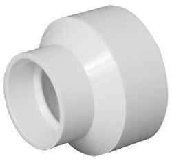 Charlotte Pipe  Schedule 40  4 in. Hub   x 2 in. Dia. Hub  PVC  Reducing Coupling