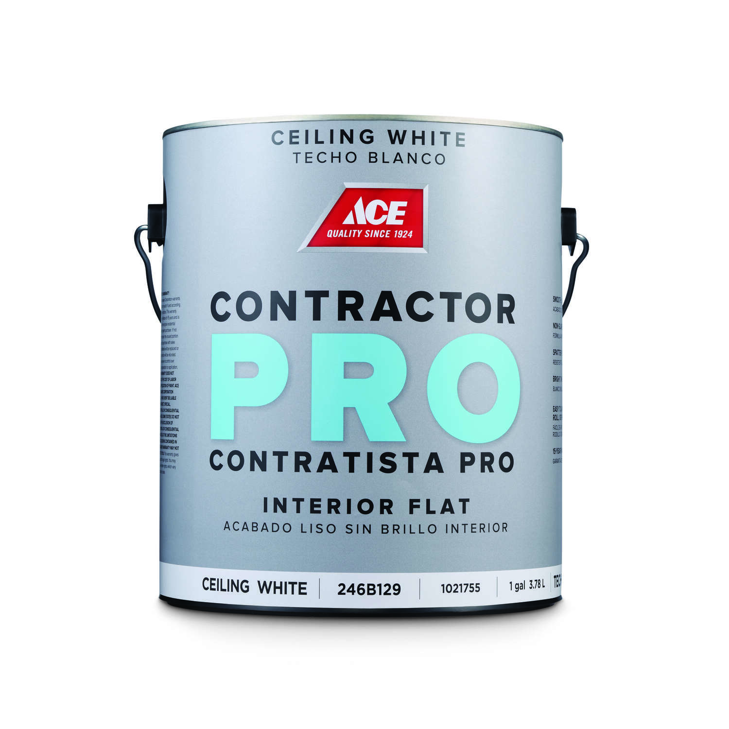 Ace  Contractor Pro  Flat  White  Acrylic Latex  Paint  Indoor  1 gal.