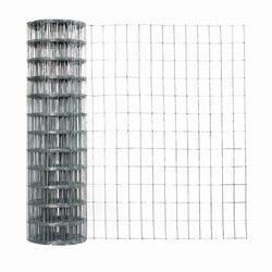 Garden Zone  36 in. H x 50 ft. L Galvanized Steel  Garden  Fence  Silver