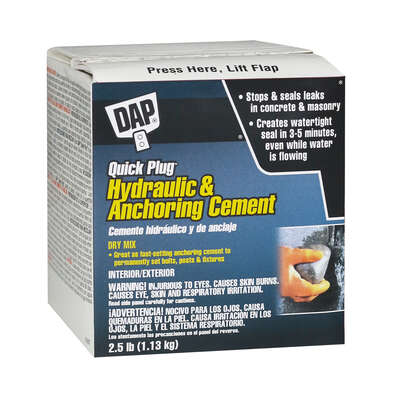 DAP  Bondex Quick Plug  Hydraulic & Anchoring Cement  2.5 lb.