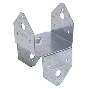 Simpson Strong-Tie  4 in. H x 4 in. W 18 Ga. Galvanized Steel  Post Cap