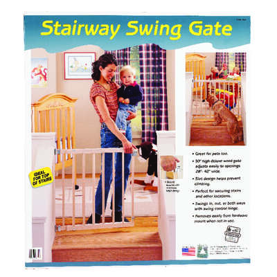 North States  White  30 in. H x 28-42 in. W Wood  Child Safety Gate