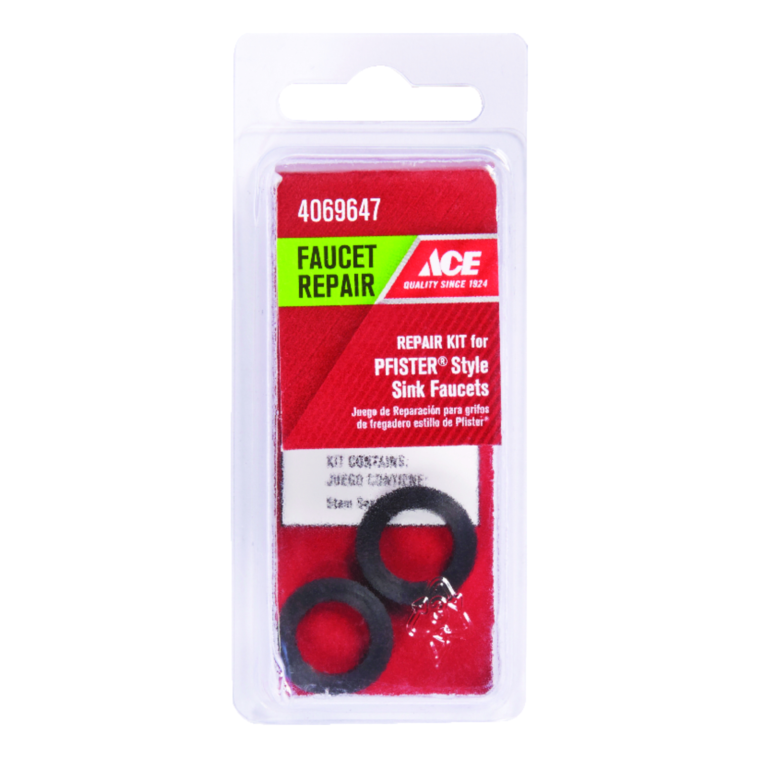 Ace  Rubber  Assorted in. Dia. Washer Kit  2